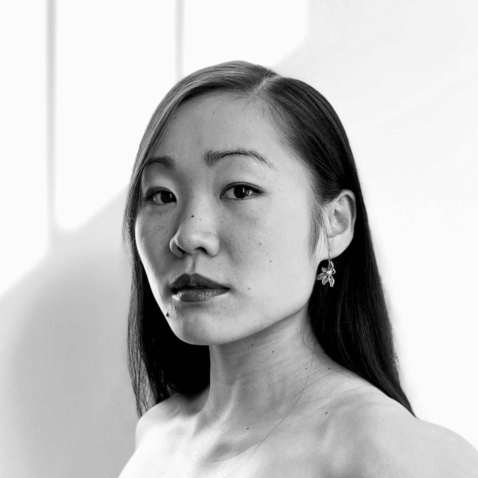 Black & white portrait of ODC/Dance Company dancer Cora Cliburn